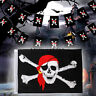 1Pc Large Skull Crossbones Pirate Flag Jolly Roger Hanging With Grommet
