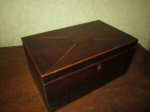 An antique Georgian inlaid box