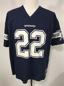 Vtg Xl Adult Logo Athletic Dallas Cowboys Emmitt Smith 22 Jersey Screen Print