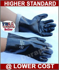 "120 Pair PVC 12"" Chemical Liquid Water Resistance Long Wrist Work Gloves Large"