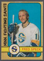 1972 73 OPC O PEE CHEE WHA HOCKEY #331 FRED SPECK NM MINNSOTA FIGHTING SAINTS