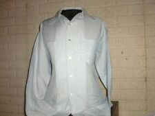 Vintage 1970's Whitehall polyester & cotton long sleeve button front shirt Large