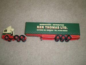 Corgi 1/50th Scale Ken Thomas Leyland Tractor & Curtainside Trailer No Box