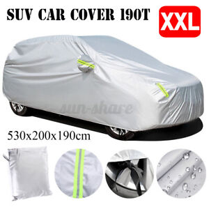 SUV Full Car Cover Waterproof Sun Snow Dust Rain Resistant Protection XXL Size