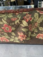 "Chenille Tropical Floral Upholstery Fabric 54"" Wide By The Yard ."
