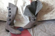 SUPER Bottes ARCHE cuir nübuck gris T36  souples à enfiler, NEUVES val 395 €