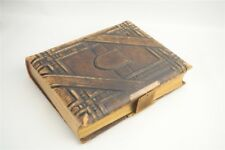 Antique Victorian Large Leather Cabinet Card Photo Album with 88 Photos CDVs TTs