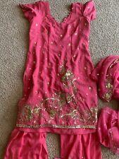 Pakistan Indian Bollywood Kameez Set Outfit Jewels Handmade Small