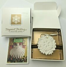 Margaret Furlong 1989 A Winter Jewel Snowflake Ornament Christmas Original Box