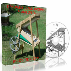 BUILD YOUR OWN DRYWASHER GOLD MINING TROMMEL DIY PLANS ON CD