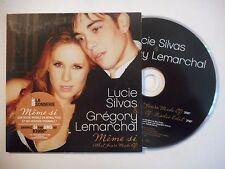 LUCIE SILVAS & GREGORY LEMARCHAL : MEME SI ♦ CD SINGLE PORT GRATUIT ♦