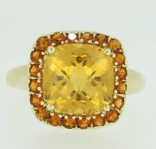 9ct Yellow Gold Citrine Ring Size O