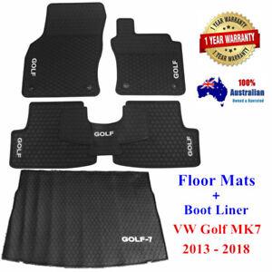 Waterproof rubber floor mats + Cargo Boot Liner for VW Golf MK7 7.5 2013 - 2021