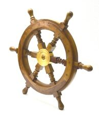 "18"" Wooden Ship Wheel Pirate Captain Boat Steering Nautical Maritime For Wall"