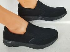 WOMENS SKECHERS MEMORY FOAM COMFORT BLACK  WORK SHOES SIZE 8.5