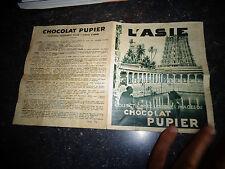 Ancien Dépliant Catalogue des Jouets Cadeaux des Images et Album Chocolat Pupier