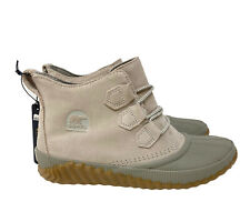 Sorel Women's 9 Out N About Plus Waterproof Leather and Suede Duck Boot Gray