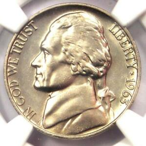 1963 Jefferson Nickel 5C Coin - NGC MS66 5FS - Rare Full Steps - $715 Value!