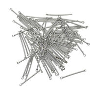 100pcs Straight Bar Connector Jewelry Charms Pendants Findings Accessories