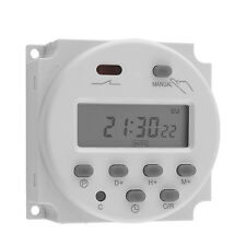 12 Volt 16 Amp LCD Display Programmable Timer Relay Switch for Light Fans