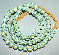 Necklace Strand Chevron Glass Beads Nepal