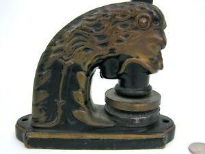 Antique Cast Iron Figural Lion Corporate Company Seal Press Hartford Connecticut
