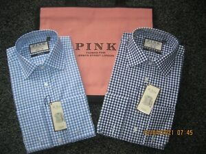 Thomas Pink Summer Check Shirts in various sizes/fit + A Free Shopper