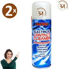 2 x Electrical Contact Cleaner Switch Clean Aerosol Spray Can Dirt Remover 200ml