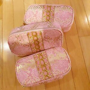 Lot of 3 Estee Lauder Cosmetic Makeup bags