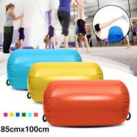 100x85CM Orange Inflatable Gymnastics GYM Air Mat Barrel Track Roll Roller US