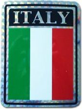 Italy Country Flag Reflective Decal Bumper Sticker