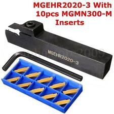 MGEHR2020-3 Lathe Grooving Parting Cutter Tool Holder + 10x MGMN300 3mm Inserts