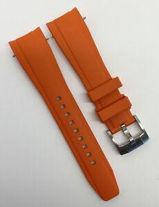 Authentic Everest Tudor Black Bay 41 22mm x 18mm Orange Rubber Strap EH-11 OEM