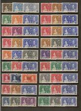 1937 KGVI CORONATION OMNIBUS (44) MNH SETS INC HONG KONG (147)