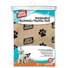 Simple Solution Washable Training and Travel Dog Pads, Large - (2 Pack)