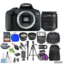 Canon EOS Rebel T7/2000D w/ EFS 18-55mm III Lens 64GB Flash Filter Tripod Bundle