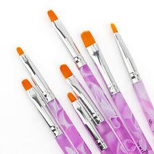 7pcs Set UV Gel Acrylic Nail Art Design Builder Salon DIY Polish Brush Pen Tips
