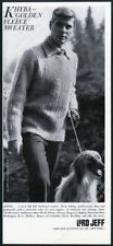 1960 Afghan Hound photo Lord Jeff men's sweater vintage print ad