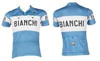 Maglia Manica Corta Bianchi Eroica/Vintage Azzurra SANTINI/JERSEY BIANCHI EROICA
