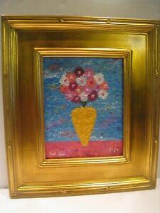 Ronit D. Appel American Israeli Artist Original Acrylic Painting of Flowers