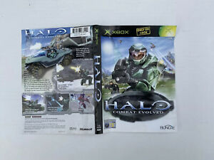 XBox Original Case Sleeve / Inlay / Artwork - Halo Combat Evolved *NO GAME*