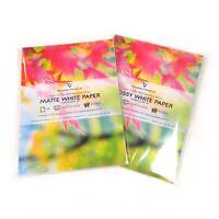 A4 White MATT / GLOSS Self Adhesive Sticker Paper Sheet Sticky Address Label