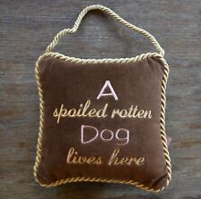 Leyla's Pillows by Eastern Accents Spoiled Rotten Dog Velvet Hanging Pillow