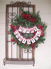 "NWT 14"" Double MERRY CHRISTMAS BANNER Garland Ribbon Cardboard Tinsel Decoration"