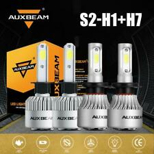 AUXBEAM H1 + H7 Combo LED Headlights Bulbs HID AUTO Low Fog Beam 144W 6000K S2