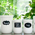 New 36X Decal Wall Chalkboard Sticker Labels for Canisters Kitchen Jars Pantry