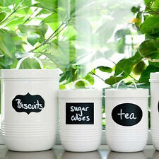 36pcs Chalkboard Removable Stickers Labels for Jars Pantry Canister Kitchen AU