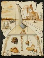 Salvador Dali Composition A La Jambe  Giclee Art Paper Print Poster Reproduction