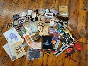 Grandpa's Junk Drawer Dad's Travel Stuff Pocket Knives Watches Clocks lot random