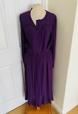 BNWT M&S Purple Midi Peasant Style Dress Marks and Spencer - Size 12
